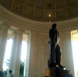 Jefferson Statue inside the Memorial