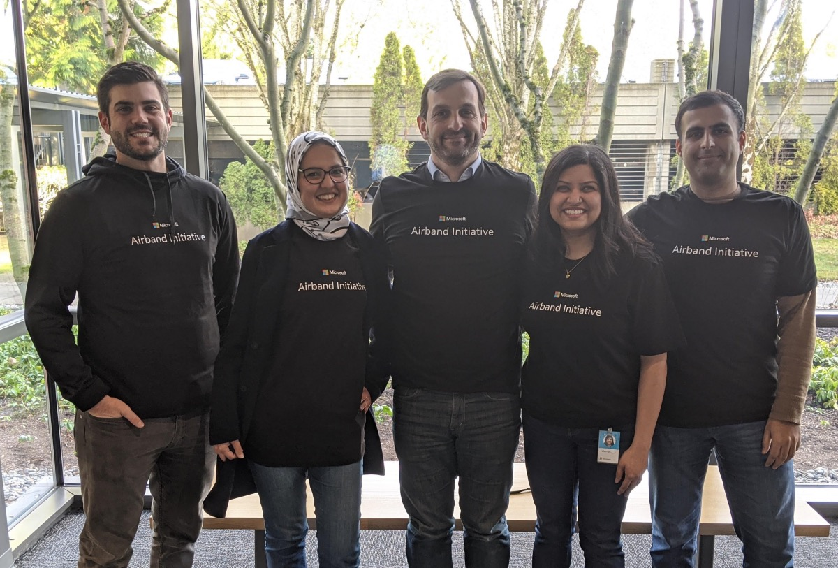 Part of the Airband team on Microsoft Redmond Campus.